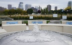 Angela Two Stars' new commission for the Minneapolis Sculpture Garden celebrates Dakota language and culture. A fountain is at the center of Two Sta
