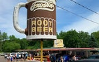 The Drive In is easy to find, just look for the gigantic rotating mug of root beer.