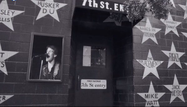 Paul Westerberg is superimposed over 7th St. Entry in the Replacements' new 'Takin' a Ride' video.