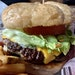 A Round-Up Bar and Grill cheeseburger.