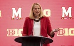 Maryland coach Brenda Frese addressed reporters during the first day of the Big Ten Media Days on Thursday in Indianapolis.