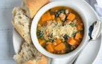 A squash soup that's savory, not sweet.