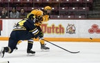 Rem Pitlick, shown here playing with the Gophers in 2019, joined the hometown Wild on Thursday.