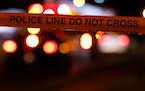 Police tape and lights. (Irwin Thompson/The Dallas Morning News/TNS ORG XMIT: 27486745W