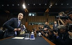 Mark Zuckerberg, chief executive of Facebook, testifies at a joint Senate Judiciary and Commerce Committee hearing, on Capitol Hill in Washington, Apr