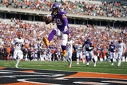Vikings receiver Adam Thielen scored one of the team's two second-half offensive touchdowns against the Bengals in Week 1. The offense hasn't scor