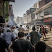 Protesters who regrouped after the Taliban broke up a larger gathering are chased away by Taliban forces in Kabul on Sept. 7.