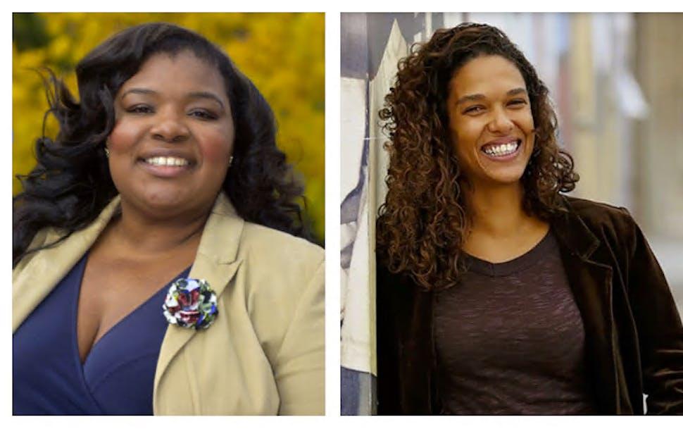 LaTrisha Vetaw, left, is the best choice for the Fourth Ward on the Minneapolis City Council. Kristel Porter, right, is the best choice for the Fifth