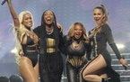 """From left, Eve, Brandy, Naturi Naughton and Nadine Lelazquez in """"Queens."""""""