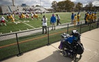 Kenneth Jennings watched the Simeon High School Wolverines during their playoff game at Gatley Stadium, the same field where Jennings was injured as a