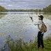caption kicker Chue Lee, cq, who fishes at the park at least twice a week, fished for bass at Keller Regional Park, Thursday, October 7, 2021 in Maple
