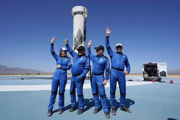 Blue Origin takes Shatner, 3 others to space