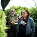 Angela Dawson and Harold Robinson stood in their hemp greenhouse. Together they run Forty Acre Co-op, a Black-owned farmers collective that aims to gi