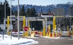 The Grand Portage Point of Entry on the U.S. border with Canada, pictured here in March 2020, will likely see an increase in traffic next month as vac