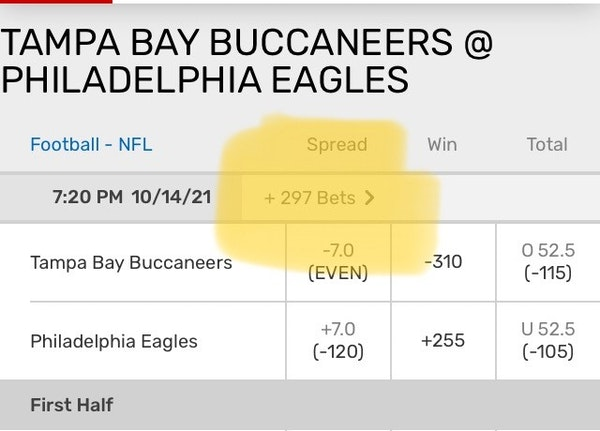 Yes, you can bet on 297 different things related to Thursday's NFL matchup.