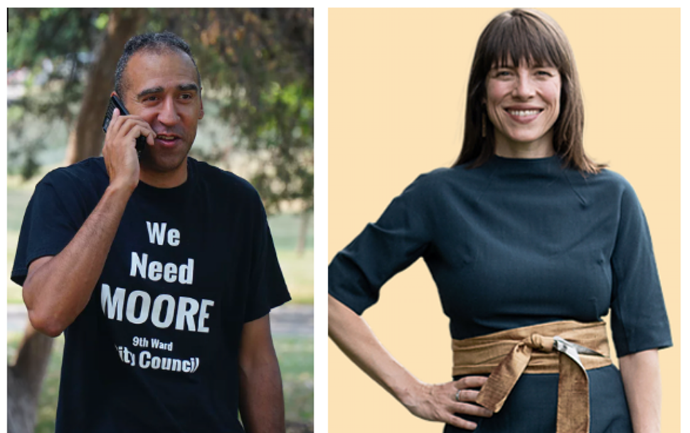 """Michael """"Mickey"""" Moore, left, is the Editorial Board's pick for the Minneapolis City Council's Ninth Ward. Alicia Gibson is the board's 10th"""