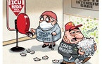 Sack cartoon: Take a number