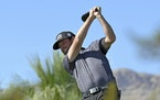 Robert Streb tees off on the 10th hole during first round of the CJ Cup