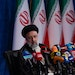 Iran's President-elect Ebrahim Raisi speaks at his first news conference in Tehran, Iran, on June 21, 2021, following his election. American officia