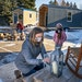 A local nonprofit that believes tiny houses are the answer to the homeless crisis set up a model village in a Maplewood church parking lot, pictured h