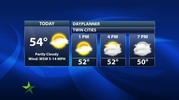 Afternoon forecast: Clouds move in, high 54; beautiful weekend ahead