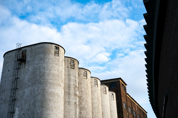 Former seed silos will remain at the Northrup King campus in northeast Minneapolis.