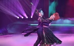 """Saha Farber and Suni Lee danced the Viennese waltz last week on """"Dancing With the Stars."""""""