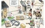 Sack cartoon: Everybody ready?
