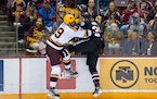 The Gophers men's hockey team took on St. Cloud State on Friday night.