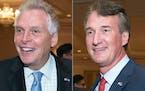 Virginia gubernatorial candidates Democrat Terry McAuliffe left, and Republican Glenn Youngkin.