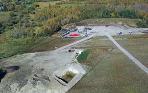 While working near Clearbrook, Minn., Enbridge dug too deeply into the ground and pierced an artesian aquifer. This image is from the site on Sept. 28