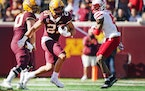 Gophers running back Bryce Williams broke free for a 56-yard touchdown run in the fourth quarter.