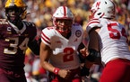 The Gophers were awarded a safety after Nebraska quarterback Adrian Martinez intentionally grounded the ball while in the end zone.