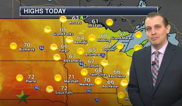 Morning forecast: Sunny, high 68