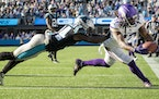 Vikings receiver K.J. Osborn caught a 27-yard touchdown reception in overtime for the win.