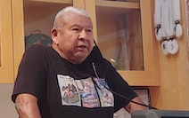 """Joe Nayquonabe, 77, is one of fewer than 25 living """"first speakers"""" of the Mille Lacs Band's Ojibwe language dialect. He contributed to a series"""