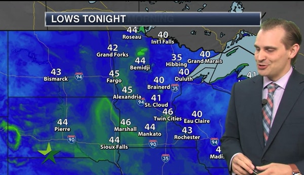 Evening forecast: Lows in the mid-40s