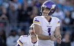 Vikings kicker Greg Joseph reacted after missing the potential game-winning kick in the final seconds of the fourth quarter.
