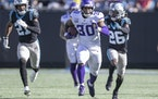 Vikings fullback C.J. Ham's 30-yard run in the third quarter was a career-long and gained an important first down.