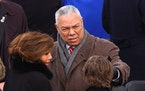 Outgoing Secretary of State Colin Powell during Inauguration ceremonies on the west front of the U.S. Capitol, Jan. 20, 2005, in Washington, D.C.