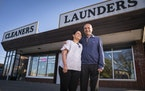 Pinky and Samir Patel, owners of riot-damaged Elite Cleaners, are rebuilding and will eventually own an expanded building off of East Lake Street.