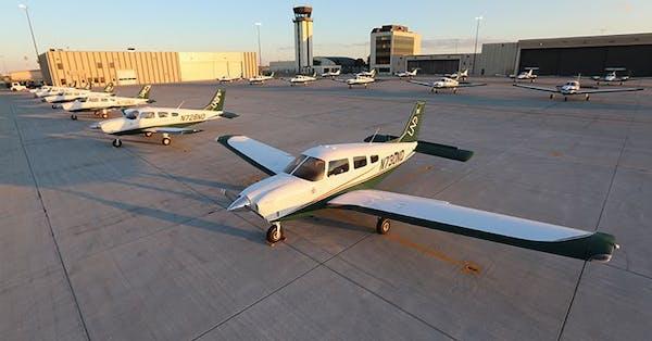 University of North Dakota airplanes in Grand Forks.