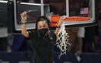 Dawn Staley and South Carolina are back in a familiar spot: No. 1 in The Associated Press Top 25 women's basketball poll.