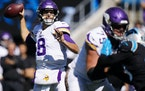 The Vikings offensive line did a better job of pass protection against the Panthers, general manager Rick Spielman said.
