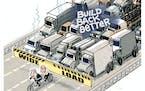 Sack cartoon: Traffic jam