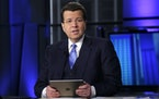 """Anchor Neil Cavuto is photographed during his """"Cavuto: Coast to Coast"""" program, on the Fox Business Network, in New York, Thursday, March 9, 2017."""