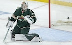 Wild goalie Cam Talbot allowed five goals in a loss to Winnipeg on Tuesday, including this first period score.