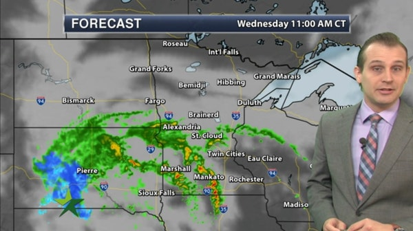 Morning forecast: Showers likely, high 59