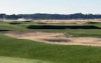 This Sept. 27, 2021 photo shows The Lido Golf Club under construction at Sand Valley Golf Resort in Nekoosa, Wis.