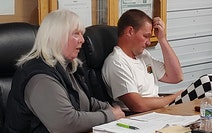 Hillman Township supervisors Elaine Pierson (left) and Ryan Martens voted to deny a petition to call a special meeting over a road dispute.